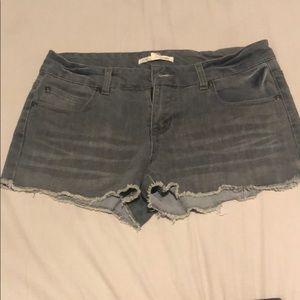 Short shorts gray washout.